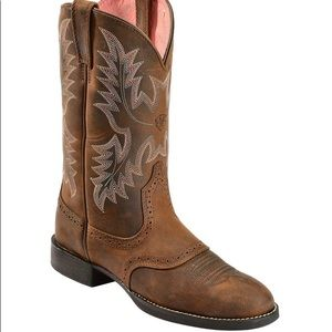 Ariat Stockman Saddle Vamp Cowgirl western Boot 10